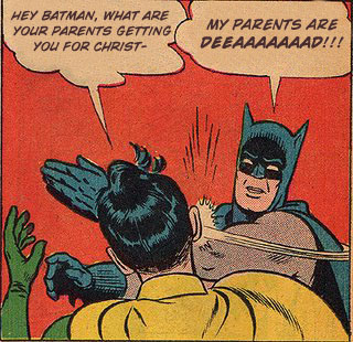 I am well aware that this is not an actual frame from an actual Batman comic, but dammit I wish it was
